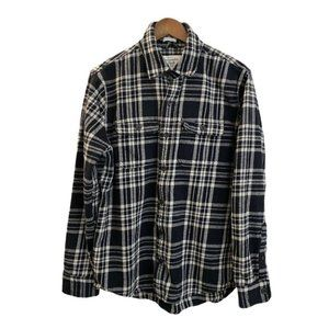Abercrombie Fitch Mens Flannel Long Sleeve Black